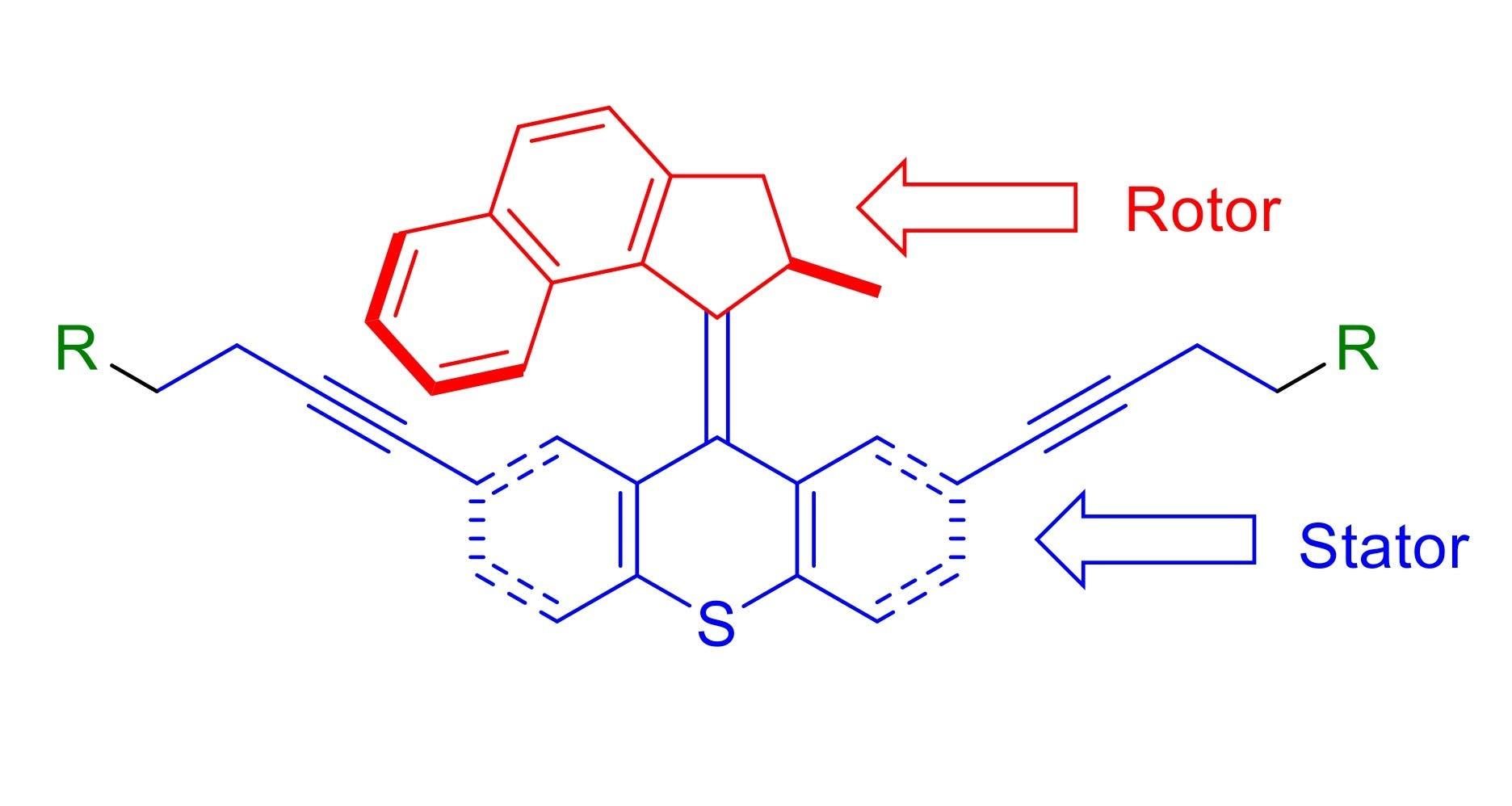 Molekülstruktur des Nanobohrers