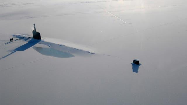 U-Boot USS Annapolis im arktischen Eis