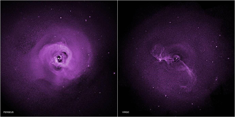 Zwei Galaxienhaufen im Röntgenlicht