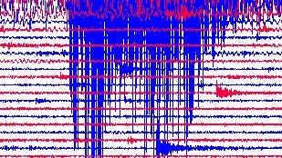 Seismogramm des indonesischen Seebebens