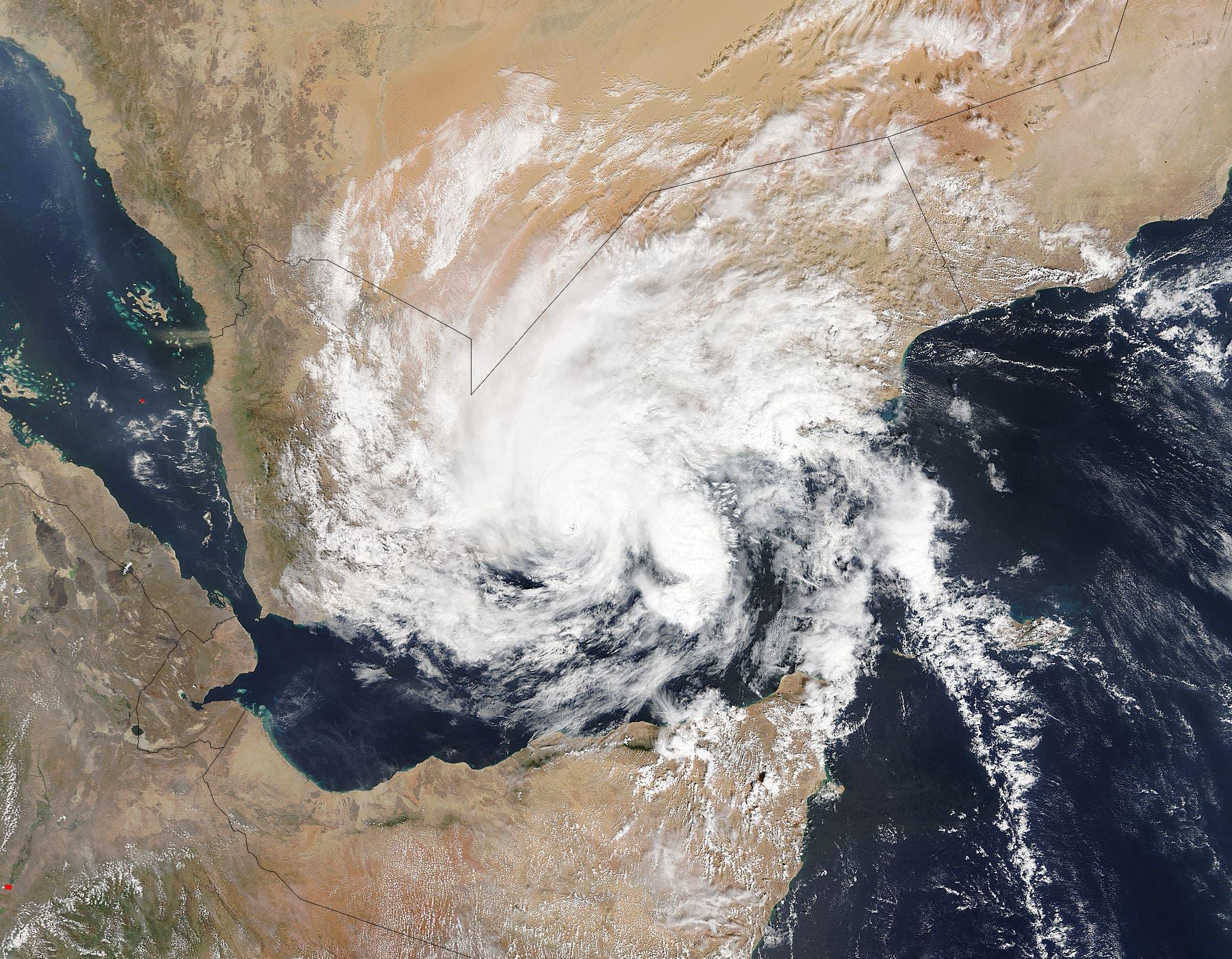 Zyklon Chapala über dem Jemen