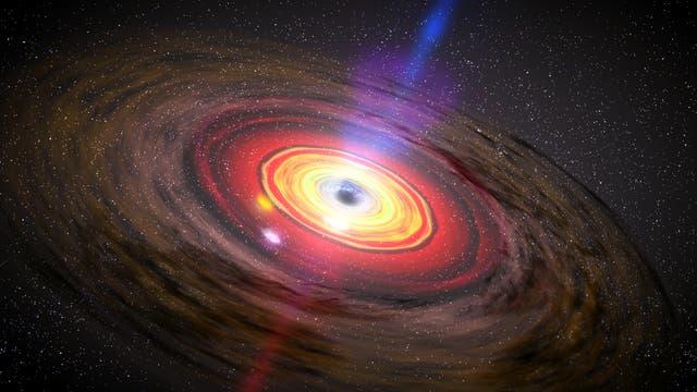 Akkretionsscheibe um Schwarzes Loch