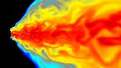 Magnetfeld-Turbulenzen am Rand eines Schwarzen Loches