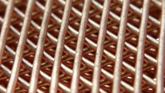 Kupfergitter in drei Dimensionen