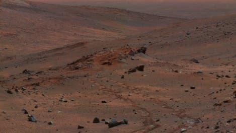 Spirits Blick über die Mars-Steinwüste