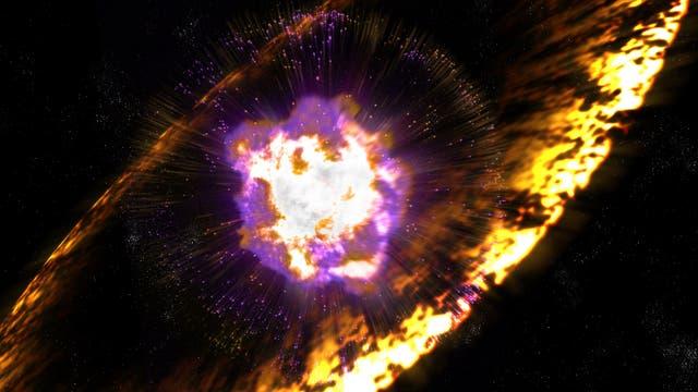 Explosion einer Supernova