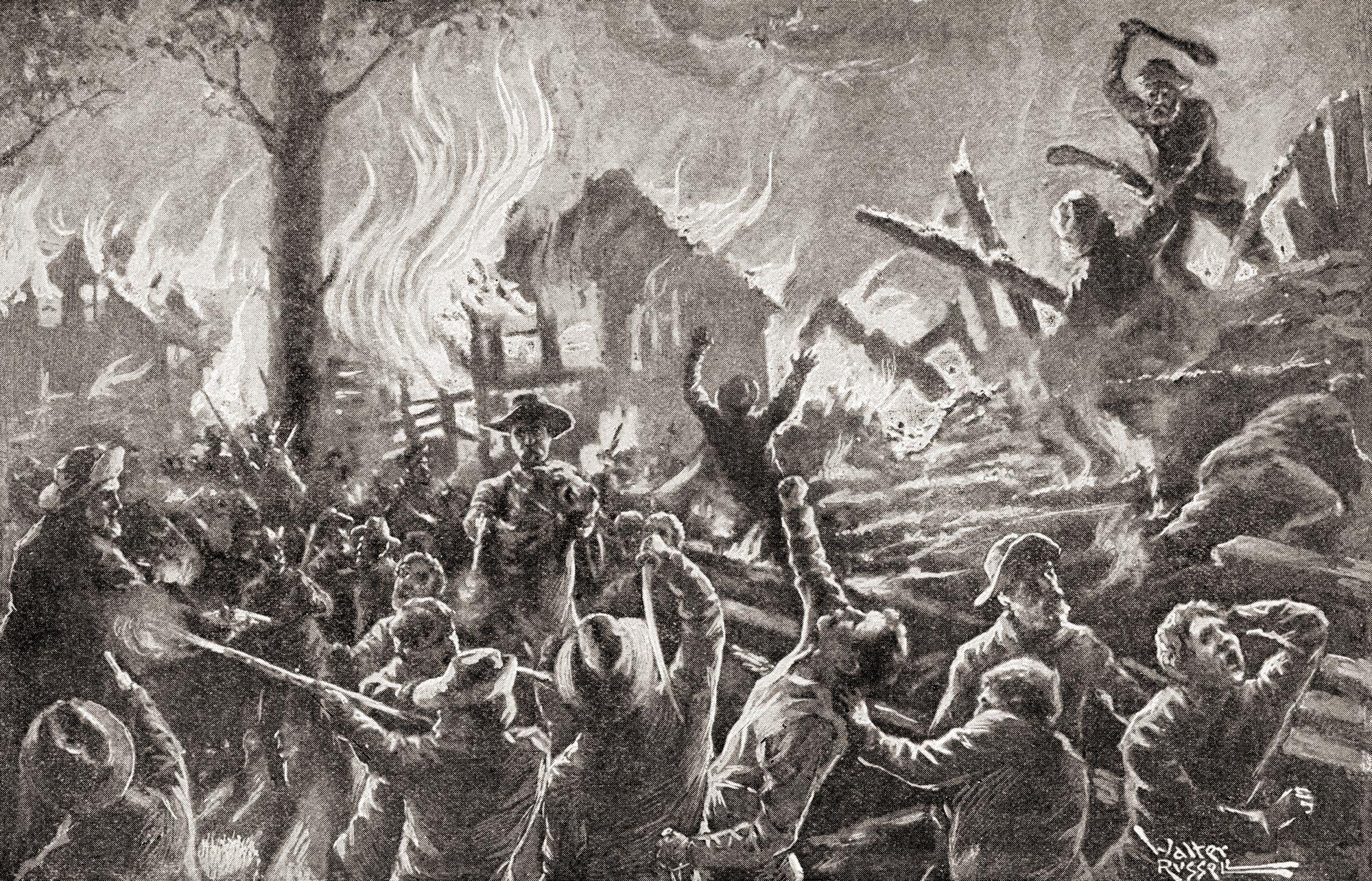 Kansas brennt und blutet