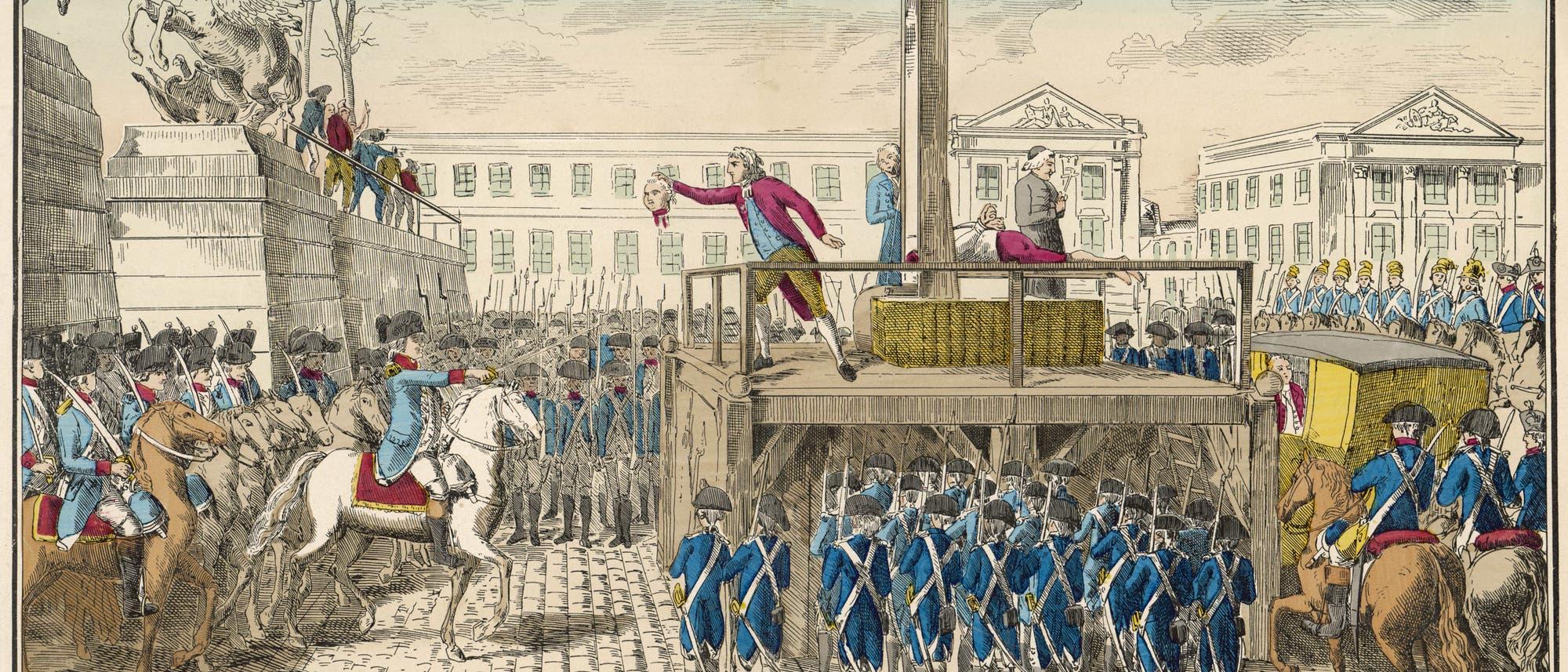 Die Exekution von Ludwig XI.