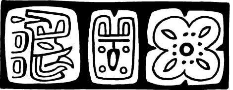 In Mexiko gefundene Hieroglyphen