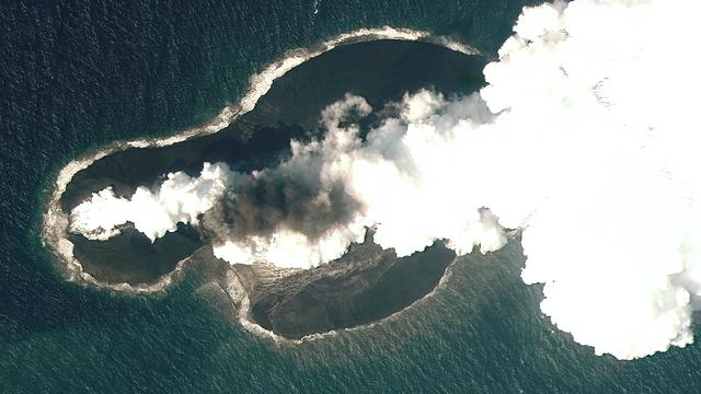 Entstehung der Insel Sholan durch einen untermeerischen Vulkanausbruch