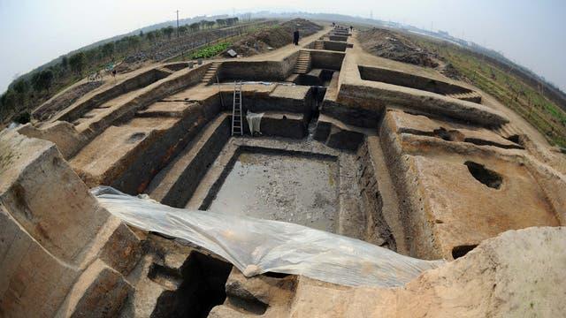 Grabung in Liangzhu. Die Fundstätte wurde 2019 zum UNESCO-Weltkulturerbe erklärt.