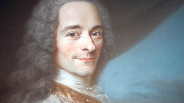 Der Dichter und Philosoph Voltaire, gemalt von Quentin de la Tour (1732)