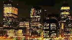Lichtverschmutzung und Vogelfalle: New York bei Nacht