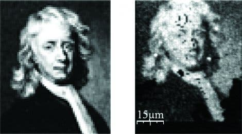 Isaac Newton en miniature