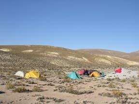 Camp am Salar de Surire