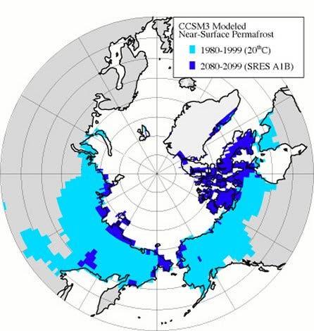 Permafrost-Ausdehnung
