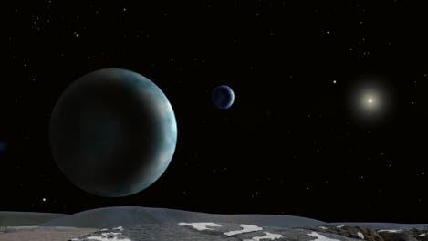 Plutosystem-Fantasie mit Charon
