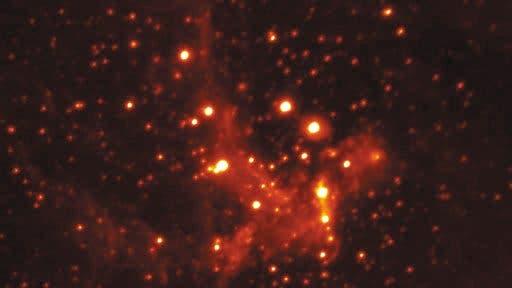 Das Zentrum der Milchstraße im Infrarotlicht