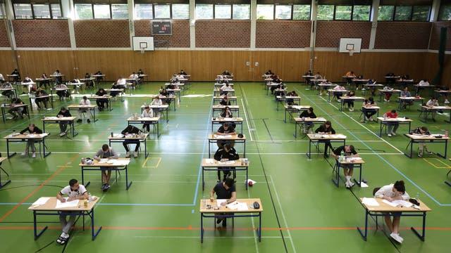 Schulprüfung in Coronazeiten