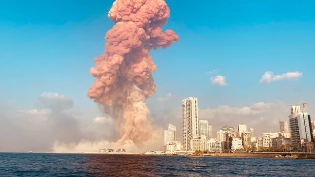 Rauchwolke nach Explosion in Beirut