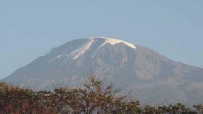 Schnee auf dem Kilimandscharo 2006