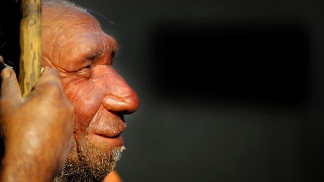 Neandertaler-Nachbildung im Museum Mettmann