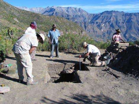 Grabungsstätte des ältesten Mais-Fundes in Peru