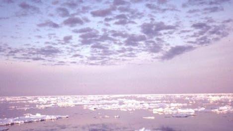 Sonnenuntergang über dem Beringmeer