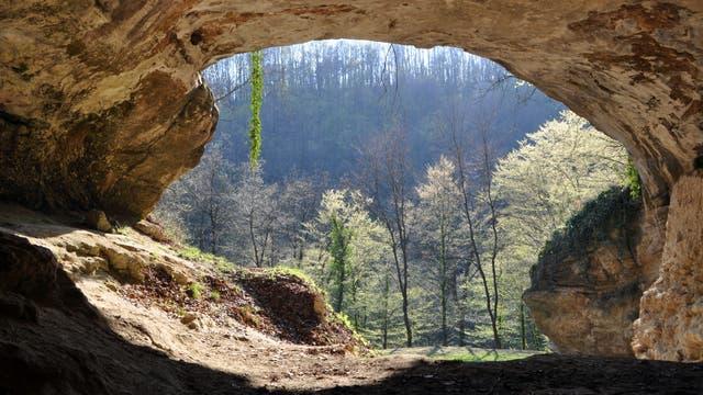 Der Eingang zur kroatischen Vindija-Höhle