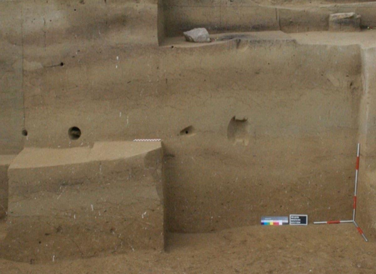Ausgrabungsschichten enthält frühe Aurignacien-Funde