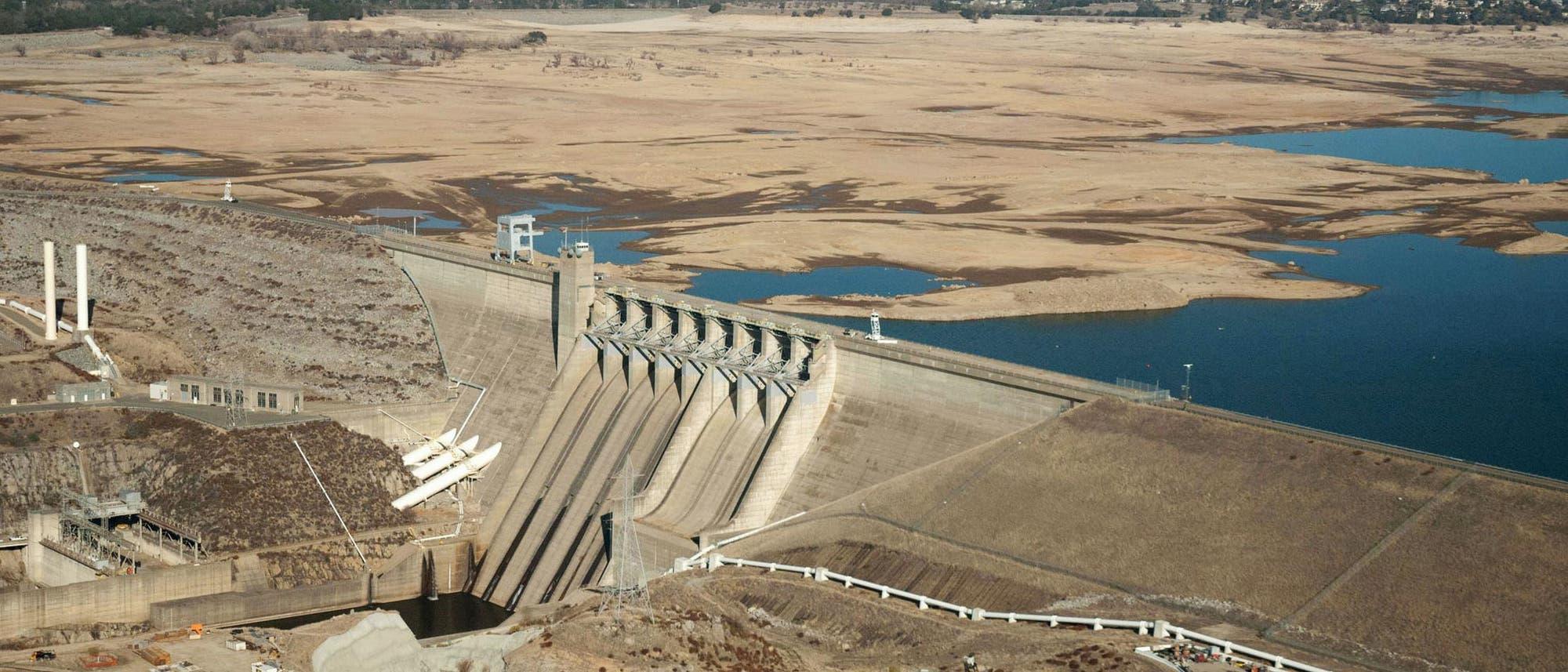 Wassermangel in einem kalifornischen Stausee