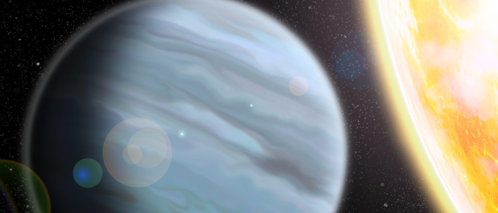 Künstlerische Darstellung von Exoplanet KELT-11b