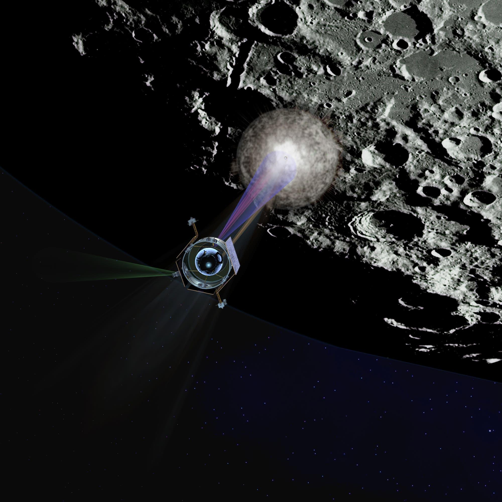 Einschlag von LCROSS auf dem Mond