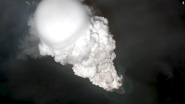 Gewaltiger Ausbruch des Vulkans Bogoslof in den Aleuten