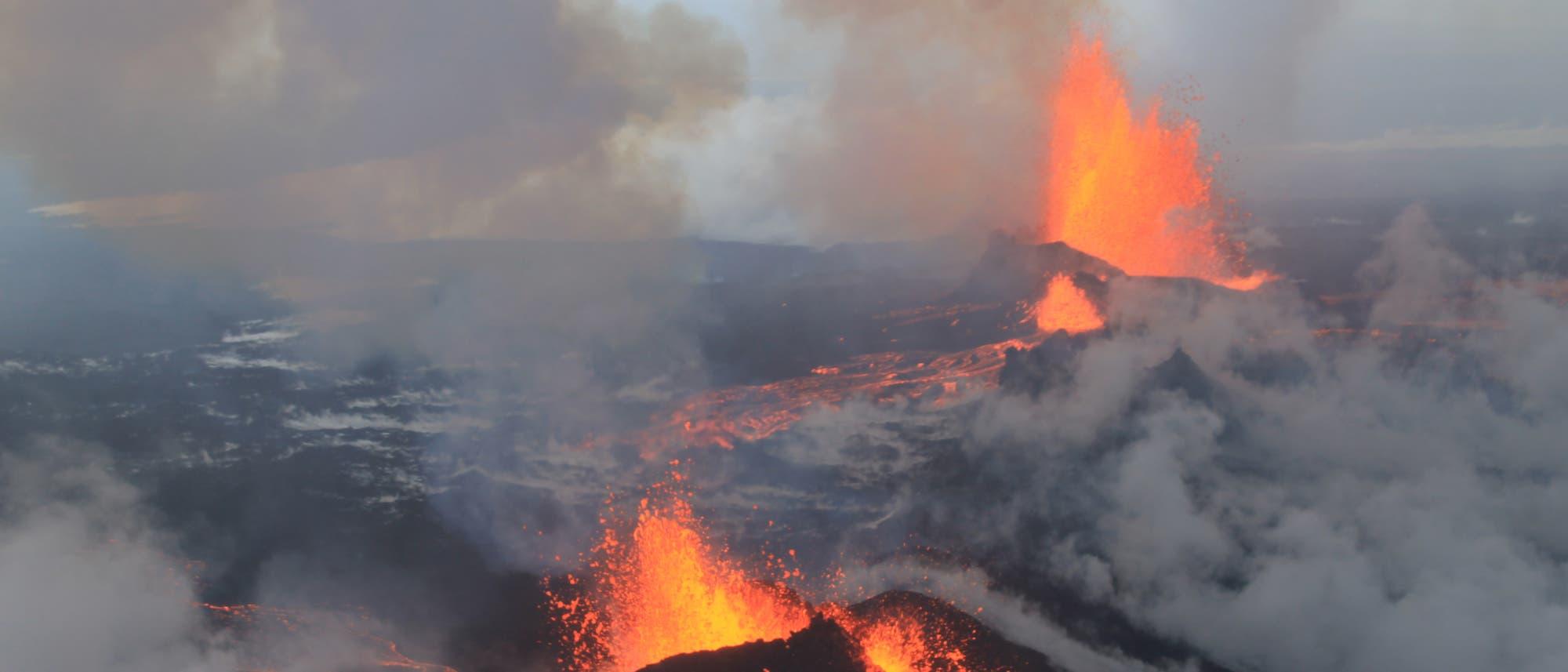 Feuer und Eis am Bárðarbunga-Vulkan
