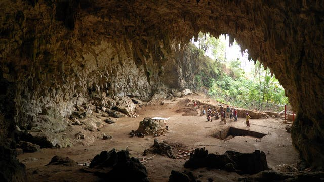 Liang-Bua-Höhle in Indonesien