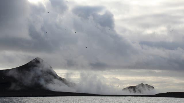 Vulkan Bogoslof in den Aleuten