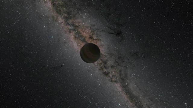 Einzelgänger-Planet in einer künstlerischen Darstellung