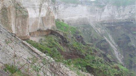 Caldera von Santorin