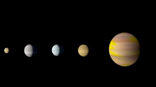 Das Planetensystem von Kepler-90