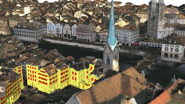 Zoom ins Zürich-Modell
