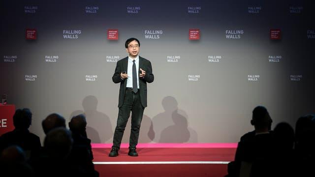 Jian-Wei Pan im November 2017 auf der Falling Walls Konferenz in Berlin.