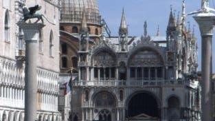 Venedig: Markusdom, Dogenpalast und Markusplatz bei normalem Wasserstand