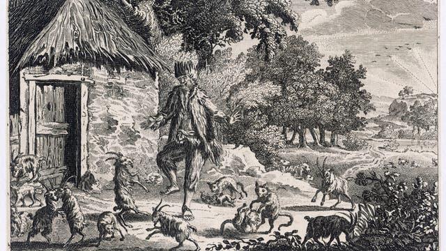 Alexander Selkirk tanzt mit den Ziegen