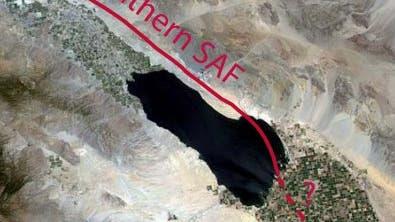 Verlauf des San-Andreas-Grabens beim Salton-See