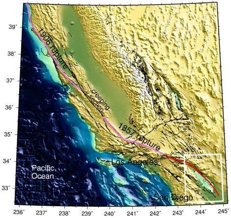 San-Andreas-Grabensystem in Kalifornien
