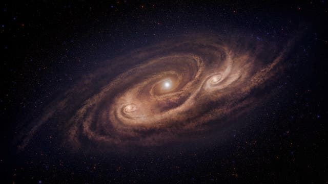Die Galaxie COSMOS-AzTEC-1 - ein Sternbildungsmonster nach der Fantasie des Künstlers