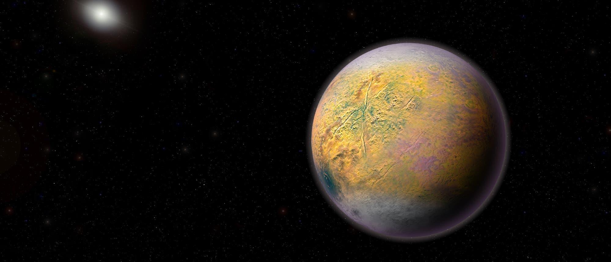 Der hypothetische Planet X in einer künstlerischen Darstellung