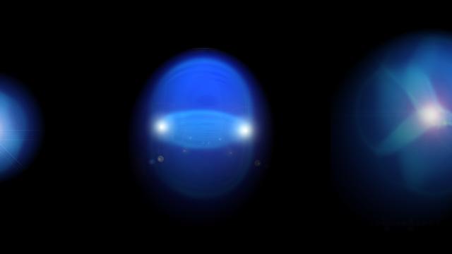 Künstlerische Darstellung interferierender Quark-Gluon-Plasmen.