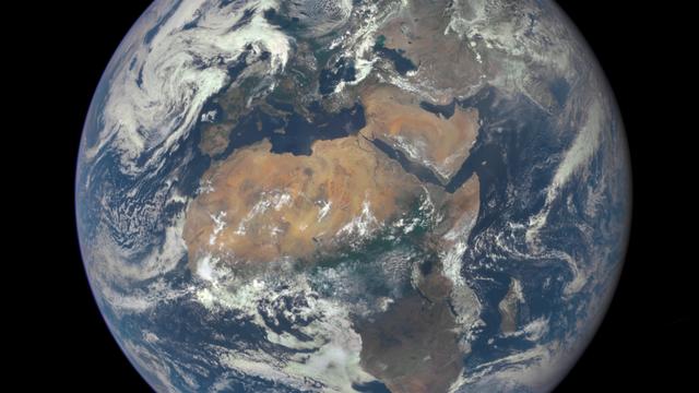Die Erde mit Afrika und Europa